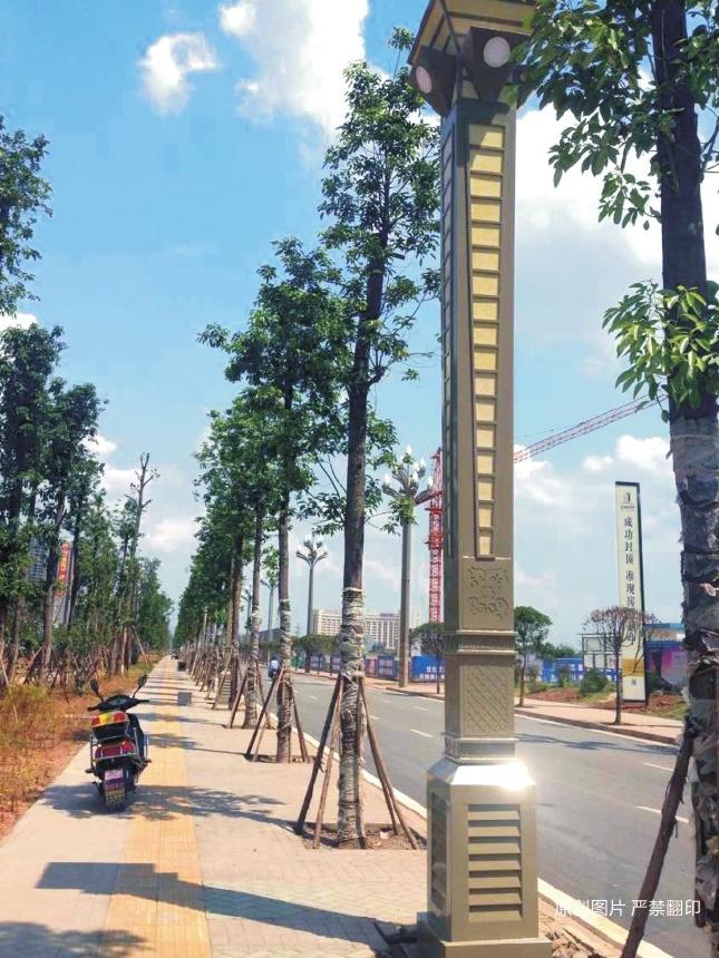 四川眉山工业园景观灯案例